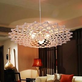 12W Vintage LED UFO Wood Chandeliers Living Room / Bedroom / Dining Room / Study Room/Office / Hallway