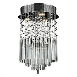 Max 50W Modern/Contemporary Crystal Electroplated Metal Flush Mount Living Room / Bedroom / Dining Room