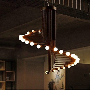 20 Country Bulb Included Painting Metal Chandeliers Living Room / Bedroom / Dining Room / Entry
