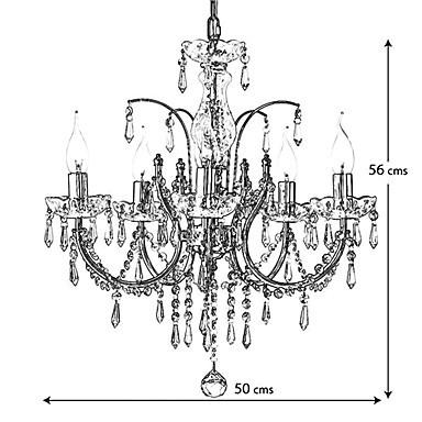 Elegant Crystal Chandelier with 5 Lights