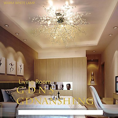 3 Modern/GDNS / Globe Crystal / LED / Bulb Included Chrome Metal ChandeliersLiving Room / Bedroom / Dining Room / Study