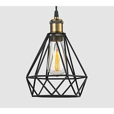 Industrial Wire Cage Pendant Light Cafe Loft Warehouse Lighting Black Cord E27 E26 Lightingo Co Uk