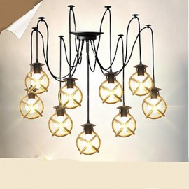 Rope lamp Chandelier Clothing Coffee Hall long Creative The Heavenly Maids Scatter Blossoms. Spider lamp