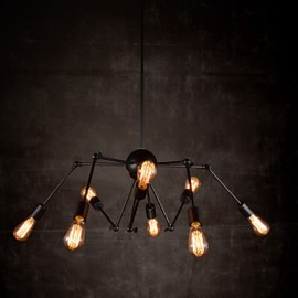 Creative 8-Light Brushed Nickel Chandelier