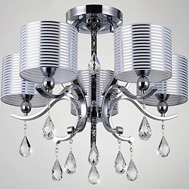Modern K9 Crystal Chandelier E27 6 Lights