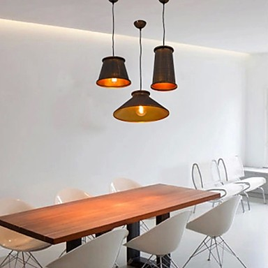 3 Light Chandeliers Mini Style Modern/Contemporary Living Room/Bedroom/Dining Room/Study Room/Office Metal Pendant Light