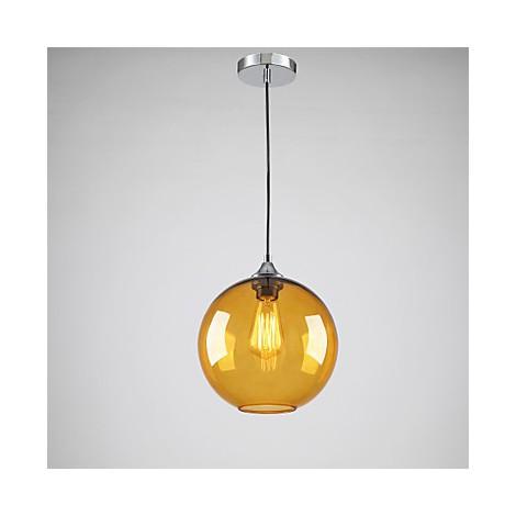 Modern glass pendant light in round amber bubble design glass shade modern glass pendant light in round amber bubble design glass shade lightingo aloadofball Images