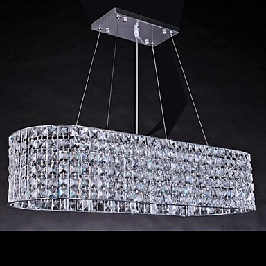 10W Modern/Contemporary Chrome Crystal Chandeliers Living Room