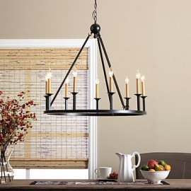 MAX:60W Country Mini Style Painting Metal Chandeliers Bedroom / Dining Room / Entry / Hallway