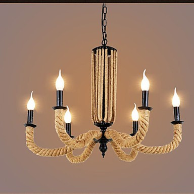Retro Rope Chandelier Personality Iron lamp