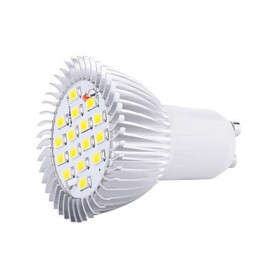 8W GU10 16XSMD5630 650LM Warm/Cool White Color LED bulbs Spotlights Led(85-265V)
