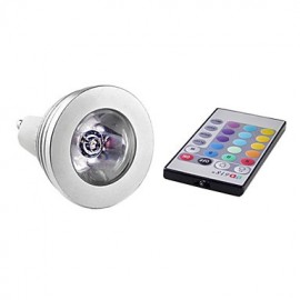 3W E14 / GU10 LED Spotlight MR16 1 High Power LED 150 lm RGB Remote-Controlled AC 85-265 V