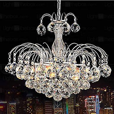 Pendant Luxury Modern Crystal Living 3 Lights Chandelier