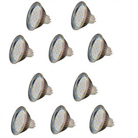 10PCS MR16 18 SMD 2835 300LM DC12V Warm White Decorative LED Spotlight
