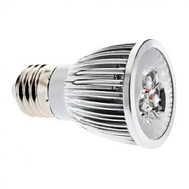 6W E26/E27 LED Spotlight MR16 3 COB 600 lm Warm White Dimmable AC 220-240 V