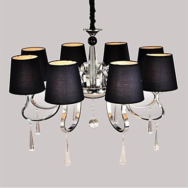 40 Traditional/Classic Bulb Included Nickel Metal Chandeliers Living Room / Dining Room