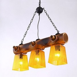 European Mediterranean American Country Bamboo Chandelier