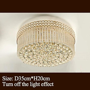 Modern Luxury Chandeliers Crystal Living Room LED Absorb Dome Light Diameter 35CM Contains 3 LED Bulbs