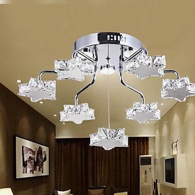 LED Flush Mount ,7 Light,Modern Electroplated Stainless