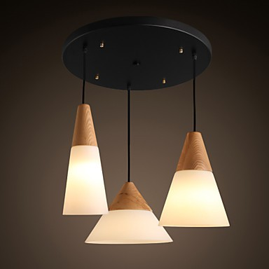 Chandeliers Mini Style Modern/Contemporary Living Room/Bedroom/Dining Room/Kitchen/Study Room/Office Metal 3 Light Pendant Light