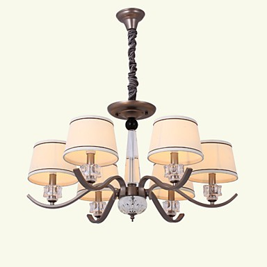 Crystal Chandeliers 6 Lights Fashion Painting Metal 220V
