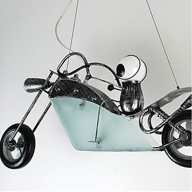 Nostalgic Children Bedroom Boy Motorcycle Iron Chandelier lighting lamps