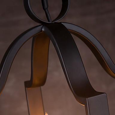 4 Light, Vintage Minimalist Iron Painting Pendant Light