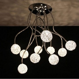 Simple Iron Ceiling Round Iron Creative Bedroom lamp Study lamp Aluminum Wire lamp
