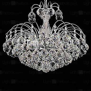 Pendant Luxury Modern Crystal Living 3 Lights Chandelier