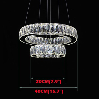 LED Crystal Chandelier Lights Modern Lighting Two Rings D2040 K9 Large  Crystal Home Ceiling Light Fixtures ...