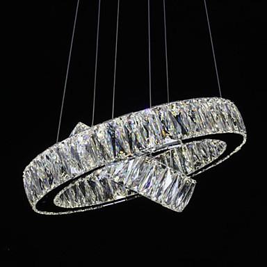 LED Crystal Chandelier Lights Modern Lighting Two Rings D2040 K9 Large Crystal Home Ceiling Light Fixtures
