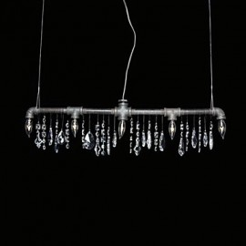 North American-Style Creative 5 Light Chandeliert In Pipe Design