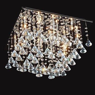 20w Traditional/Classic Crystal Chrome Metal Chandeliers Living Room / Dining Room