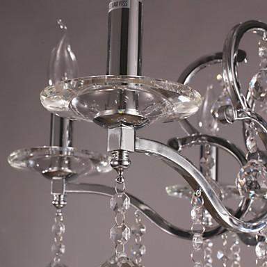 Elegant Crystal Chandelier with 6 Lights