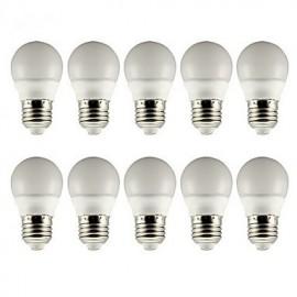 E26/E27 3W LED Globe Bulbs 5 SMD 5730 210lm Warm White / Cool White AC 85-265V 10 pcs