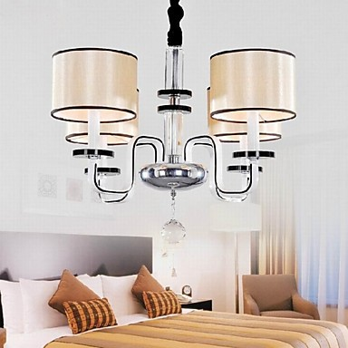 Modern Minimalist Living Room Chandelier Lighting Cloth Art Crystal Chandelier
