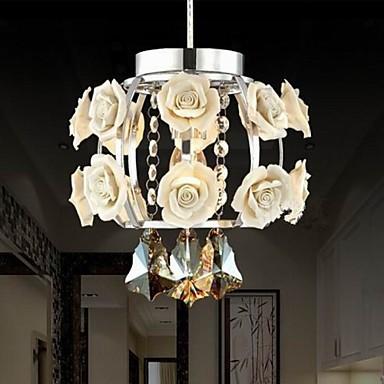 Chandeliers Crystal Modern/Contemporary/Lantern Living Room/Bedroom/Dining Room/Study Room/Office Metal 1 Light