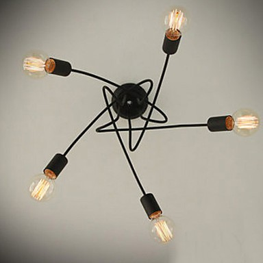 Max 60W Modern/Contemporary Painting Metal Chandeliers Living Room / Bedroom / Dining Room
