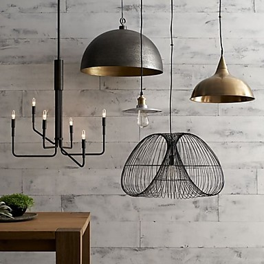 MAX:60W Country Bulb Included Painting Metal Chandeliers Living Room / Bedroom / Dining Room / Entry / Hallway