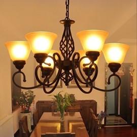 60W Rustic/Lodge / Tiffany / Vintage / Retro Metal ChandeliersLiving Room / Bedroom / Dining Room / Kitchen / Study Room/Office / Kids