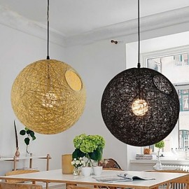 Country Simple Modern Restaurant lamp, Pastoral Rattan Lamp, Hemp Ball Chandelier