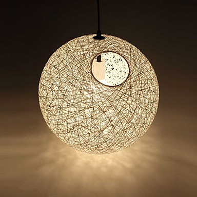 Country Simple Modern Restaurant lamp, Pastoral Rattan Lamp, Hemp Ball Chandelier
