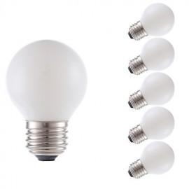 3.5W E26 LED Filament Bulbs G16.5 4 COB 300 lm Miky White Dimmable 120V 6 pcs