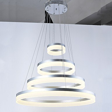 Acrylic Chandeliers LED Ring Pendant Light Lamp Lighting Fixtures with Dining room Bedroom AC100 to 240v CE FCC UL