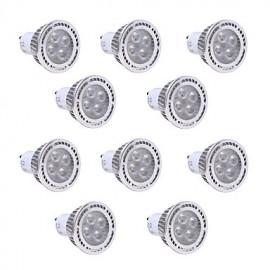 10Pcs GU10 4W SMD 3030 300-400 LM Warm White / Cool White LED Spotlight AC 85-265V