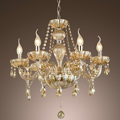 Max 60W Traditional/Classic Crystal Electroplated Glass Chandeliers Living Room