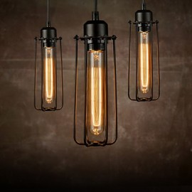 Chandeliers Mini Style Rustic/Lodge/Retro Living Room/Bedroom/Dining Room/Study Room/Office Metal 3 Light Pendant Light