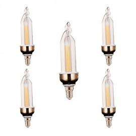 5Pcs Super Bright LED Lighting Energy-saving New LED Candle Bulb LED Pull E14 led Bulb Lamp 4W 300-400LM AC 220V