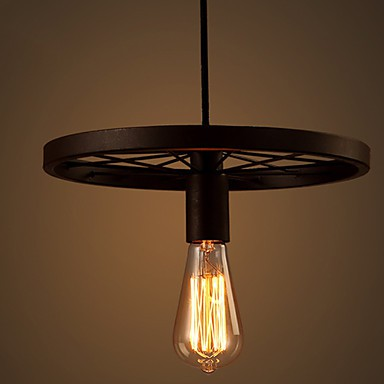 Industrial 1-light Vintage In Iron Shade Pendant Light
