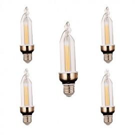5Pcs Super Bright LED Lighting Energy-saving New LED Candle Bulb LED Pull E27 led Bulb Lamp 4W 300-400LM AC 220V